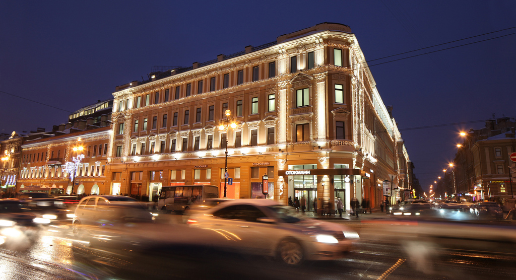 Nevsky Centre shopping centre in St Petersburg, Russia
